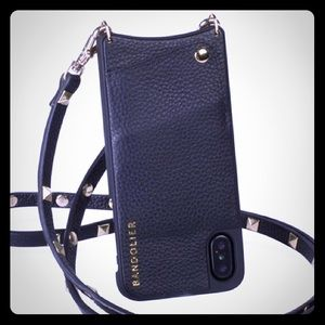 BANDOLIER black pebble w/gold - iPhone X & XR case